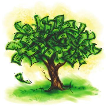 Color Clip Art Of Money Tree